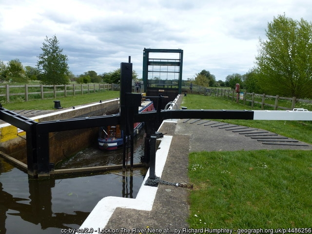Lock on the river Nene