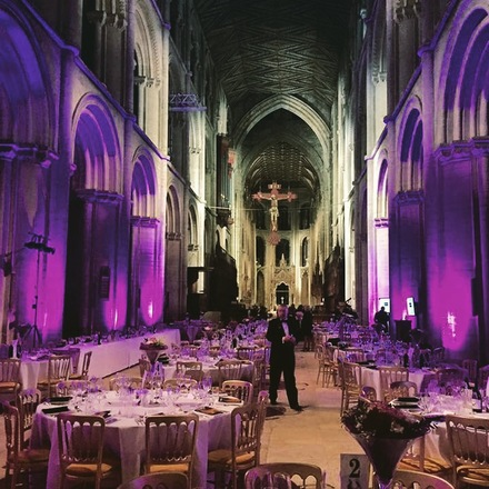 Peterborough Cathedral Nave set out for Peterborough Insurance Institute'sannual dinner